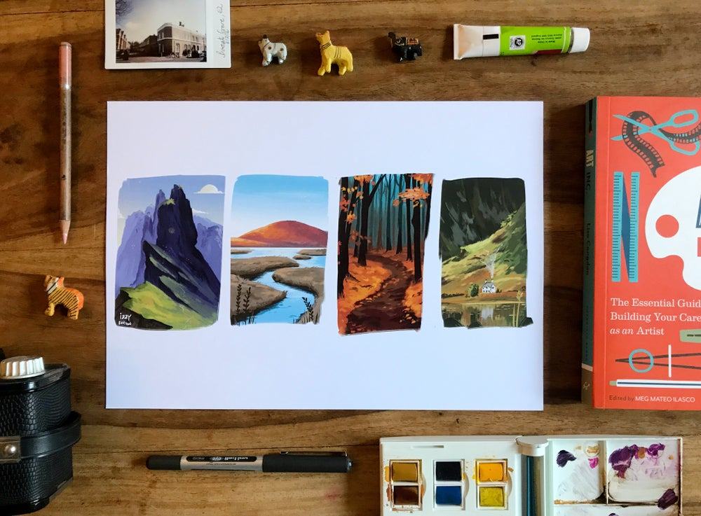 """Image of A4 Print """"Places I'd Like To Be"""""""