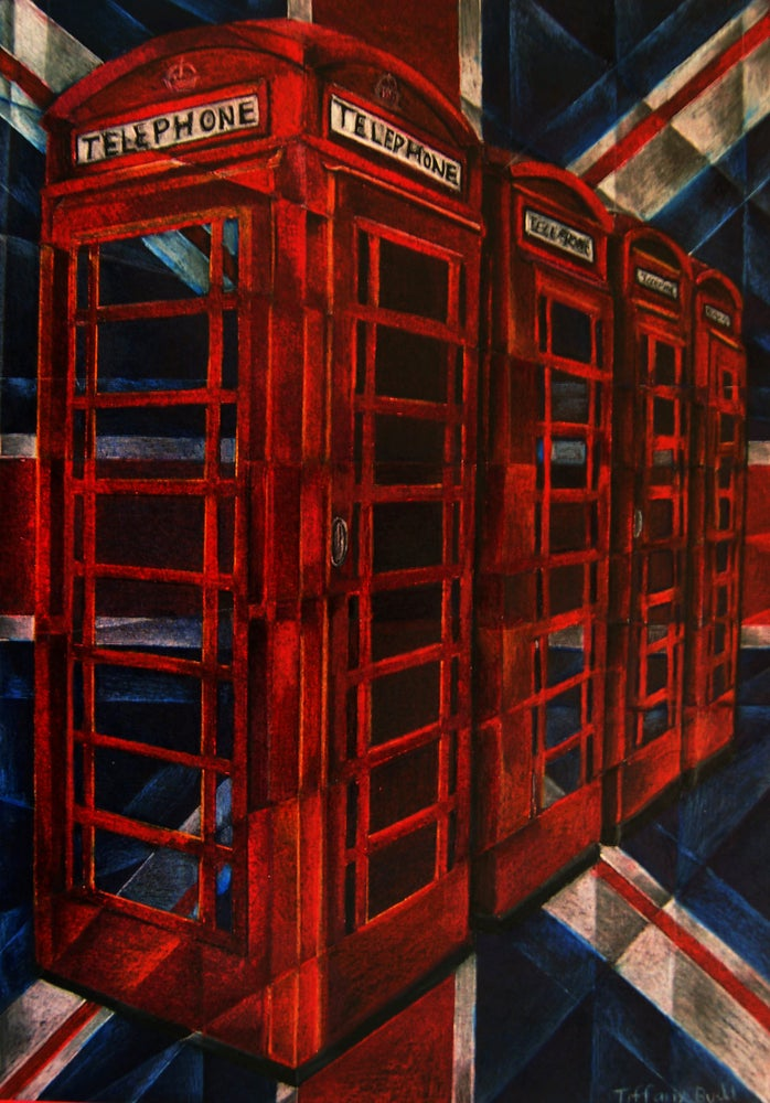 Image of Telephone Boxes- Large print