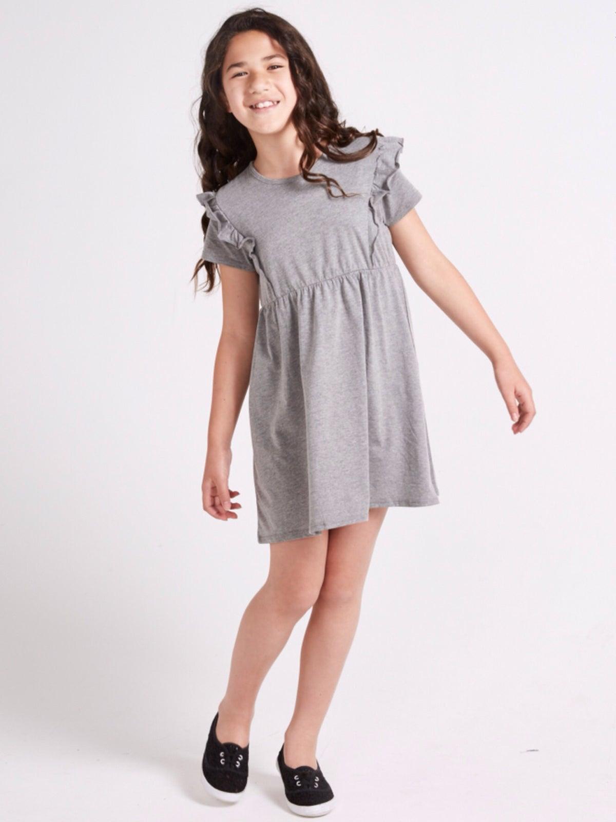 Image of Girls grey dress