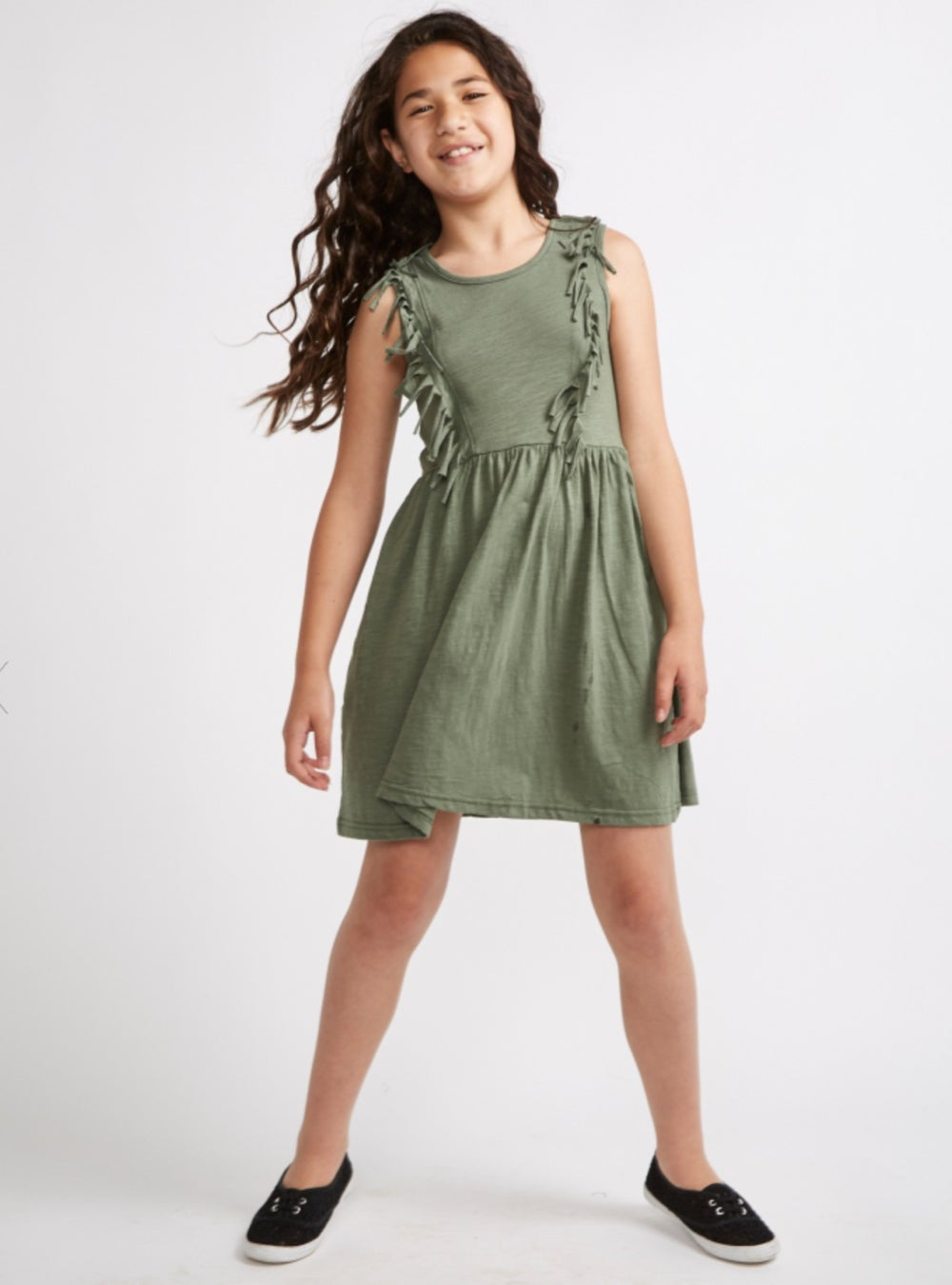 Image of Khaki girls dress