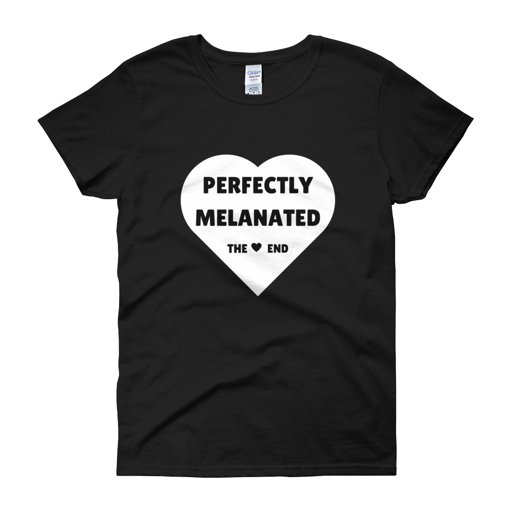 Image of Perfectly Melanated Womens Tee - Black