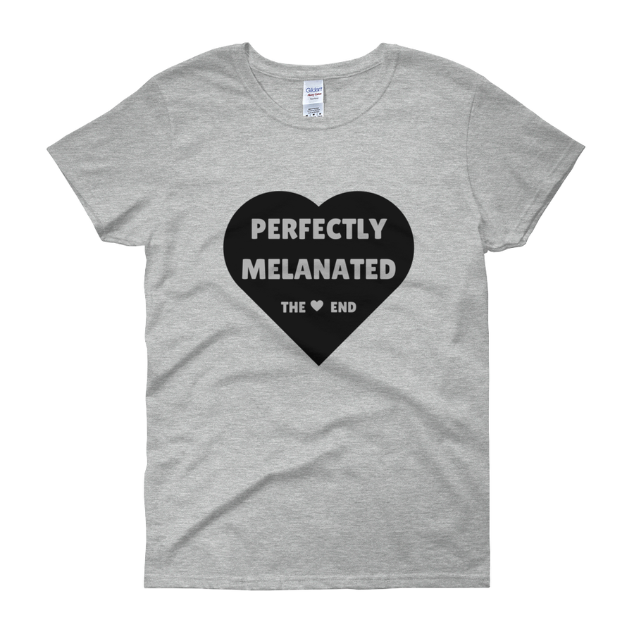 Image of Perfectly Melanated Womens Tee - Sport Grey