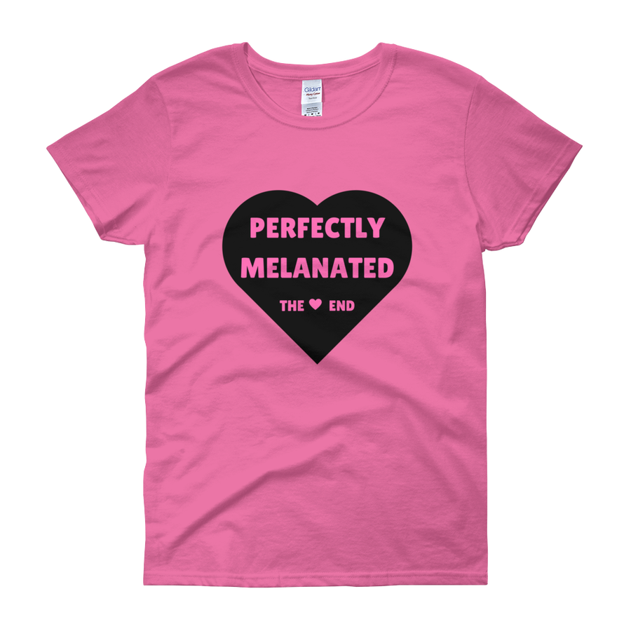 Image of Perfectly Melanated Womens Tee - Pink