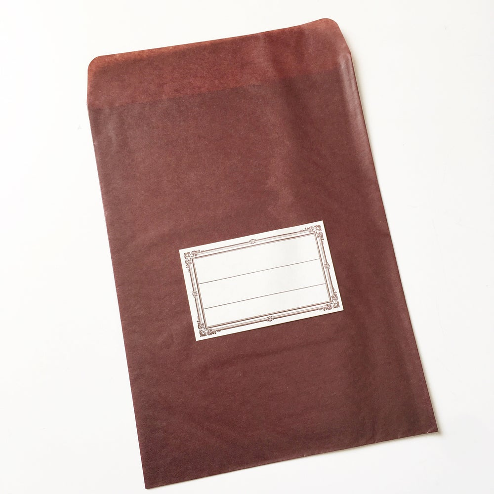 Image of Classiky Large Brown Glassine Envelope with Label