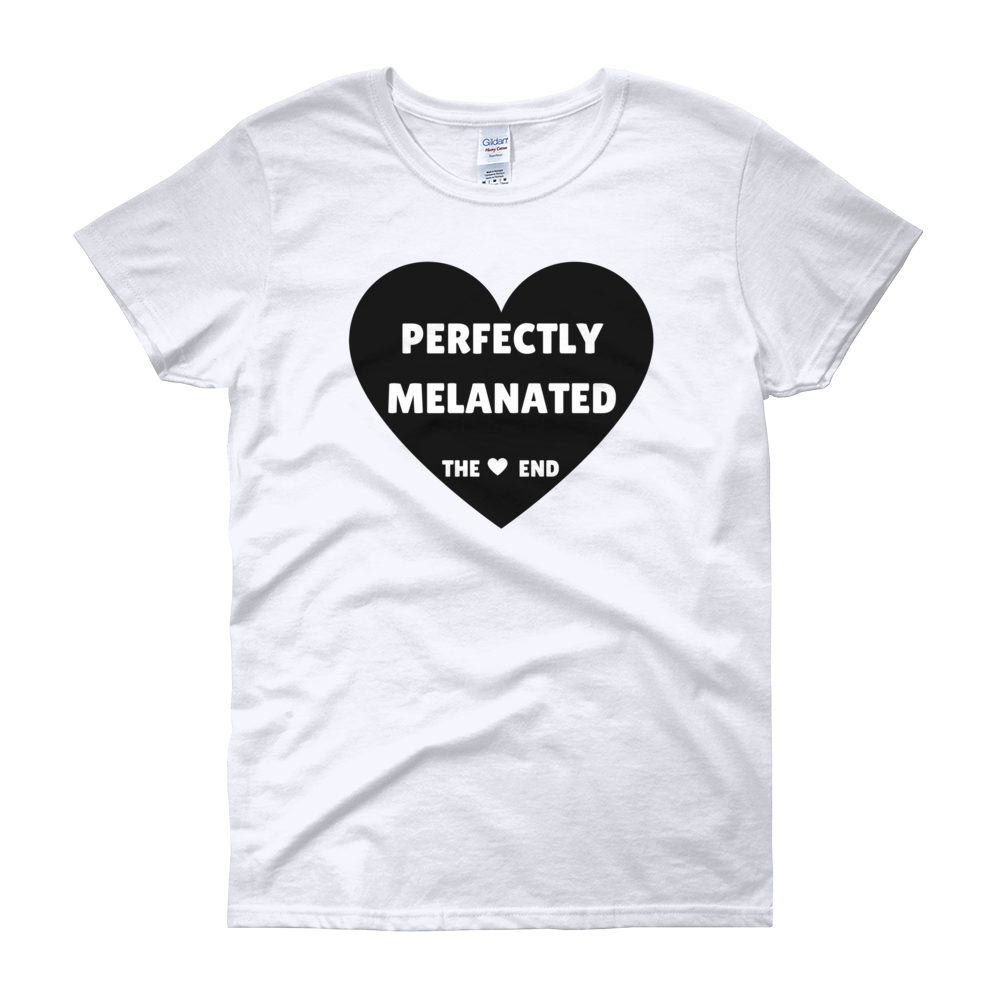 Image of Perfectly Melanated Womens Tee - White