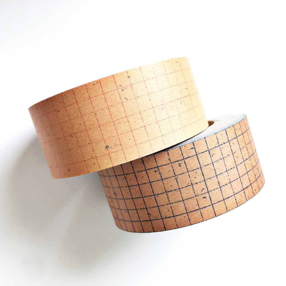 Image of Classiky Grid Kraft Paper Tape 30mm