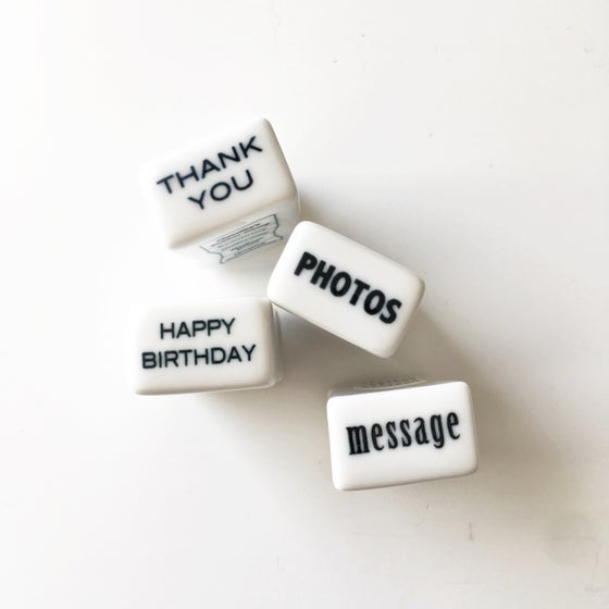 Image of Classiky Porcelain Office Stamps / Photos / Thank You / HBD / Message