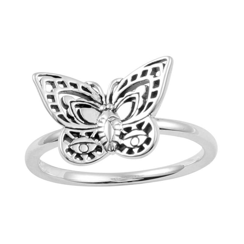 Image of Sterling Silver Spirit Moth Ring