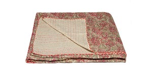 Image of 676685039484-1 KANTHA COTTON THROW 50' X 70'