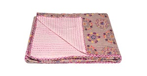 Image of 676685039538 KANTHA COTTON THROW 50' X 70'