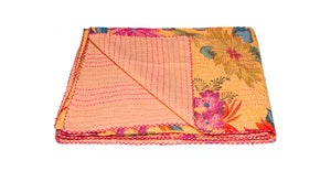 Image of 676685039545 KANTHA COTTON THROW 50' X 70'