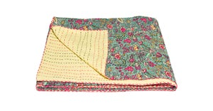 Image of 676685039583 KANTHA COTTON THROW 50' X 70'