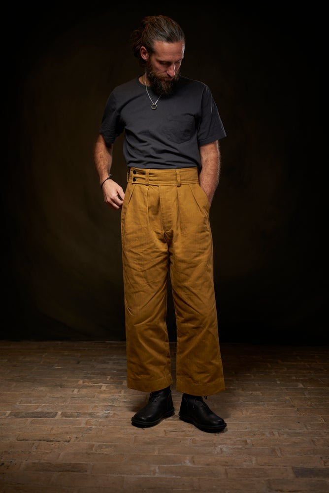 Image of Captain Trouser Herringbone - Tan