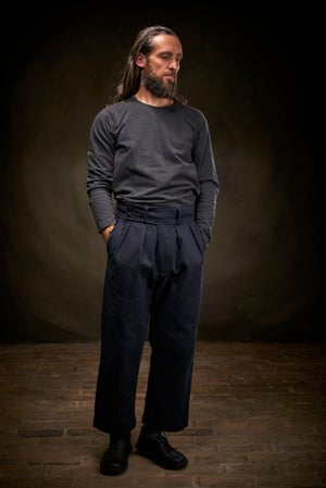 Image of Captain Trouser Drill - Navy £235.00