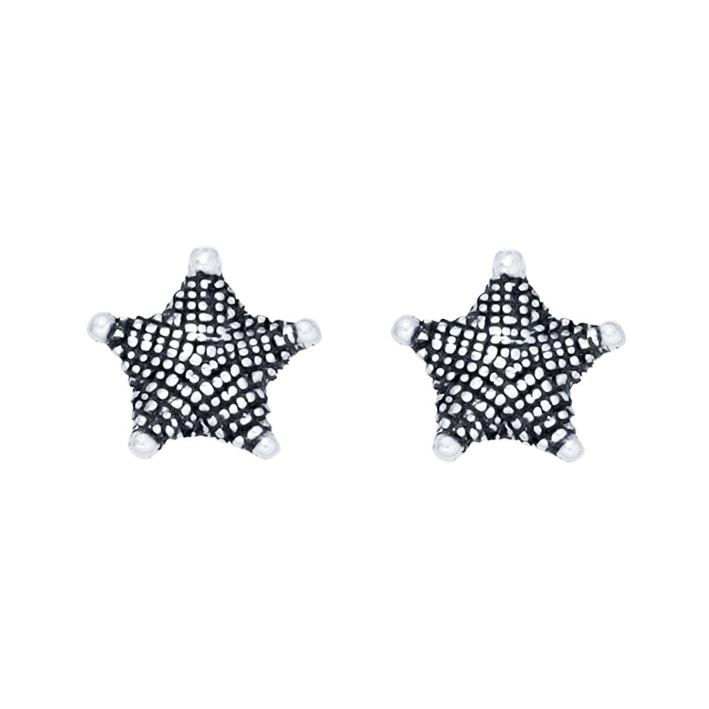 Image of Sea Star Stud Earrings in Sterling Silver