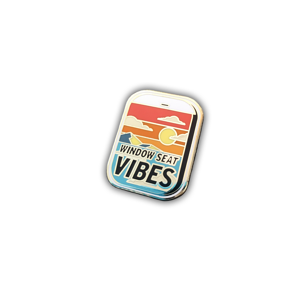 Image of Window Seat Vibes Enamel Pin