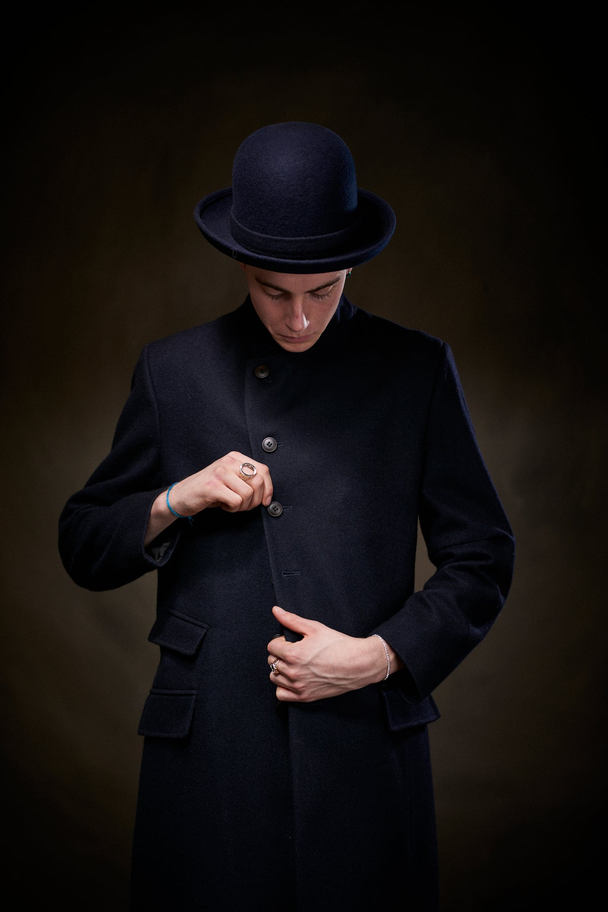 Image of East End Wool Coat - Navy