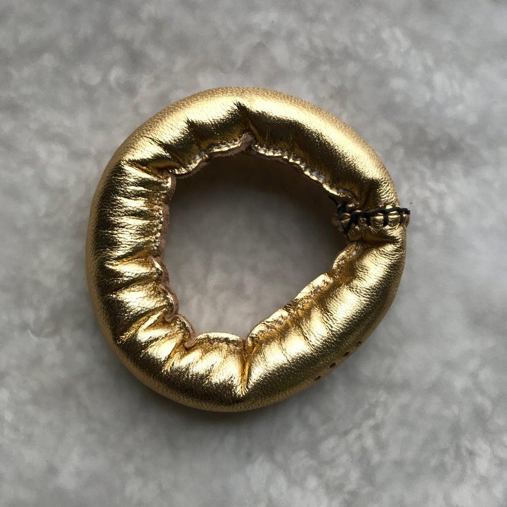 Image of L Bracelet in Gold Leather