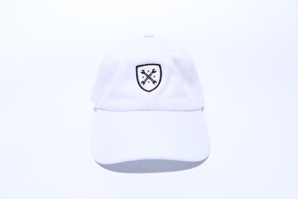 "Image of White Logo ""Dad"" Hat"