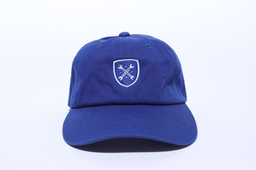 "Image of Royal Blue Logo ""Dad"" Hat"