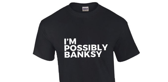 Image of Black Banksy T-shirt