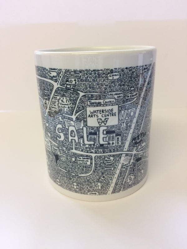 Image of Sale Doodle Map Mug