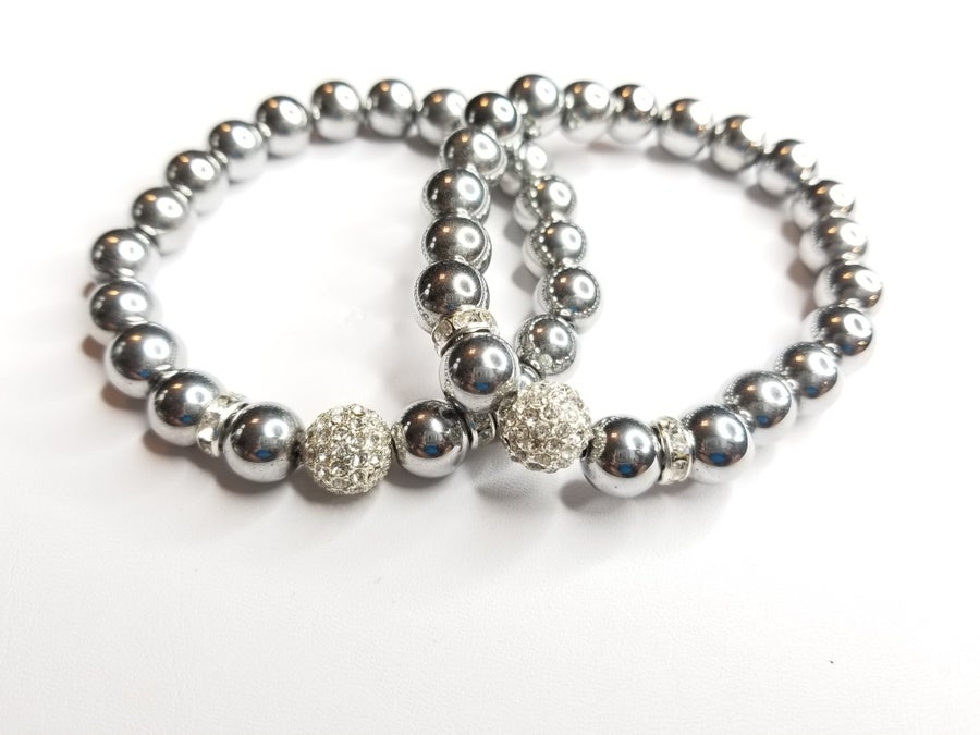 Image of Solid Hematite Gemstone Bracelet