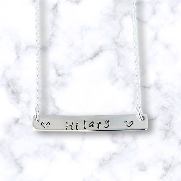 Image of Personalised Bar of Love Necklace