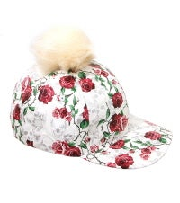 Image of POM POM PATTERN HATS