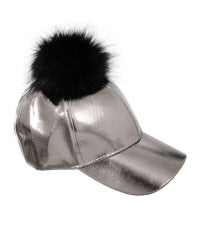 Image of METALLIC POM POM HATS