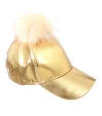 Image of METALLIC POM POM HATS