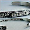 "Image of ""Sisters ~ Make the Best Friends"" Sterling Bracelet"