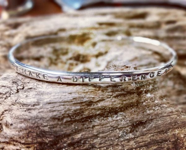 "Image of ""I Make a Difference"" Sterling Bracelet"