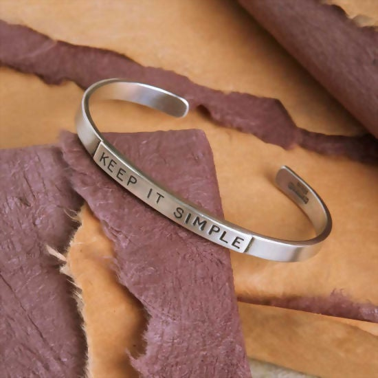 """Image of """"Keep it Simple"""" Sterling Bracelet"""