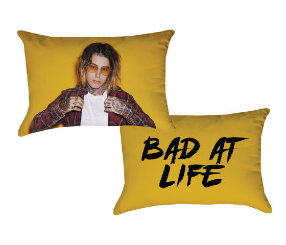 Image of bad at life pillow case