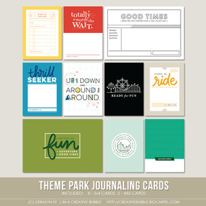 Image of Theme Park Journaling Cards (Digital)