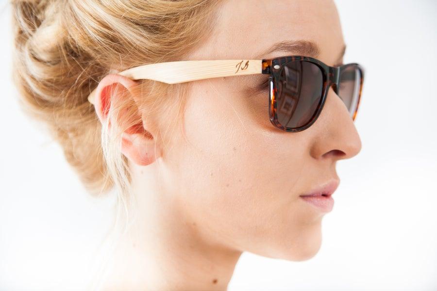 Image of Tortoiseshell bamboo sunglasses