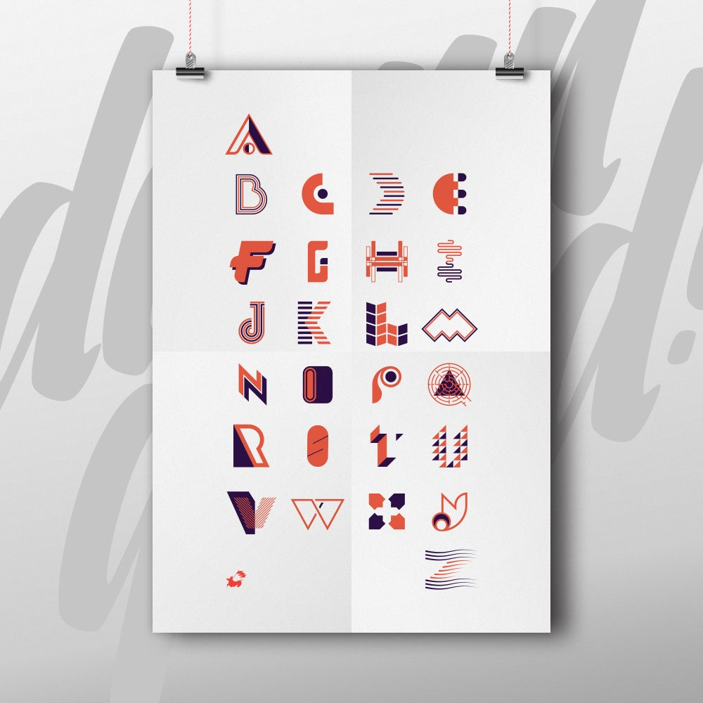 Image of Letter-A-Day Design Poster - 11x17