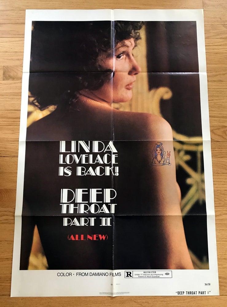 Image of 1974 DEEP THROAT PART II Original U.S. One Sheet Movie  Poster