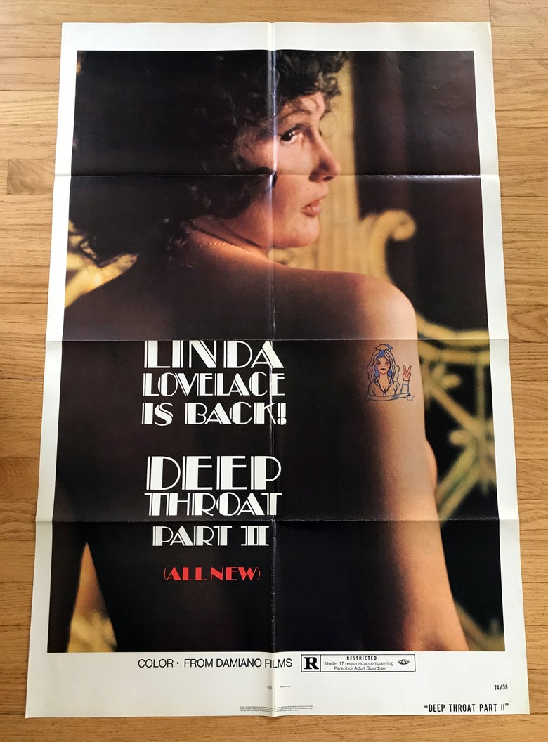 Image of 1974 DEEP THROAT PART II Original U.S. One Sheet Movie  Poster