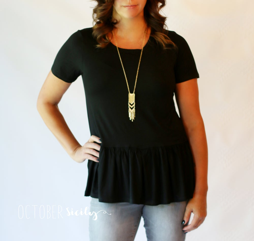 Image of Peplum Perfect Top | S-3XL