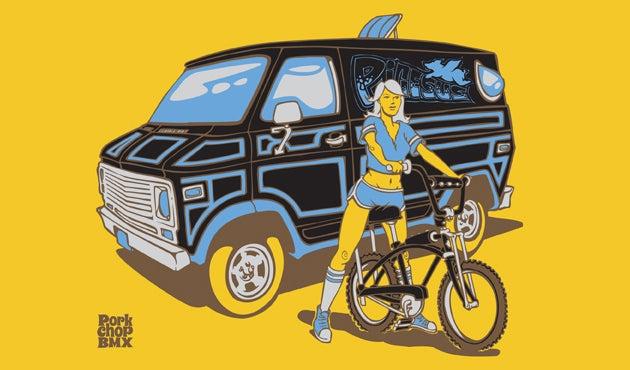 Image of PorkChop BMX Pigesus Van Girl