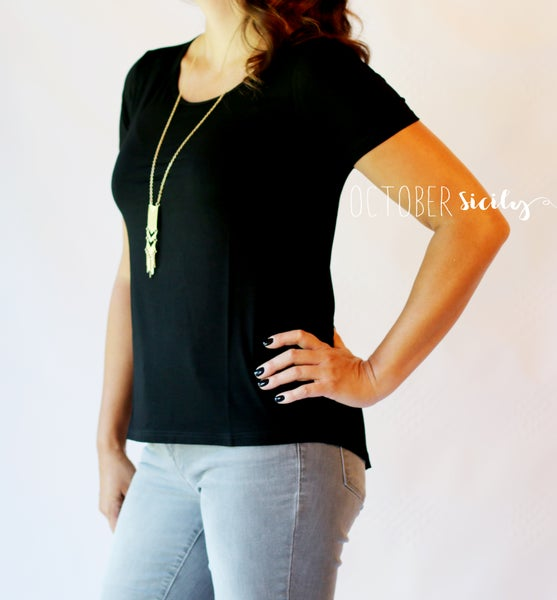 Image of Fitted High Low Tee | S-4XL