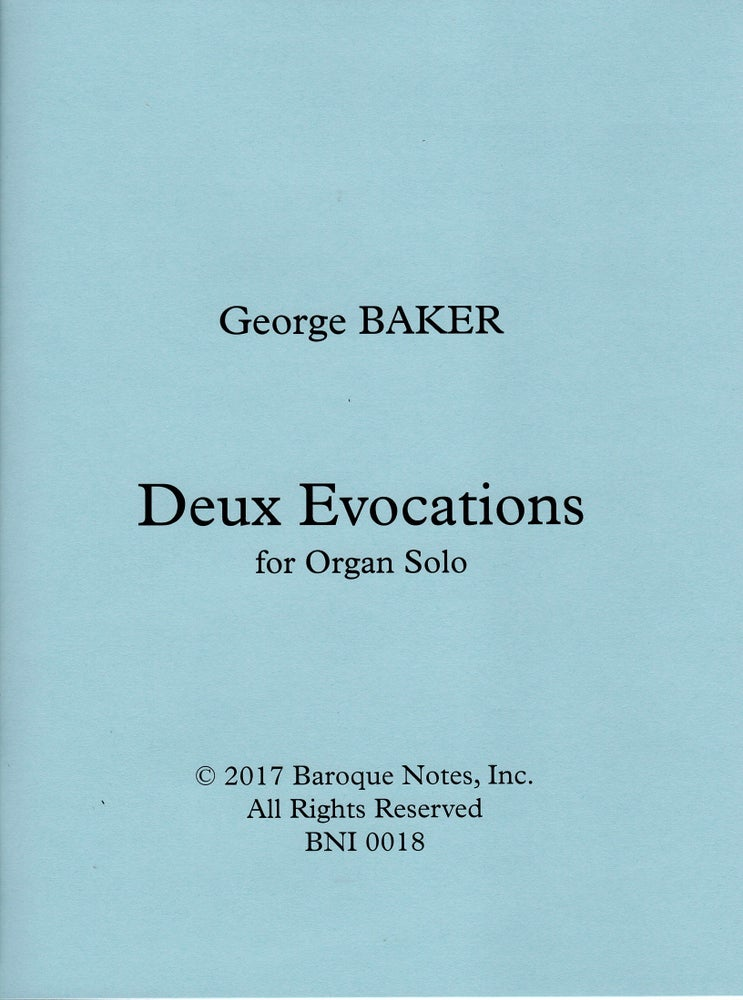 Image of Deux Evocations for Organ Solo