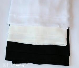 Image of Chiffon Ruffle Dress Extender Half Slip *Style C*