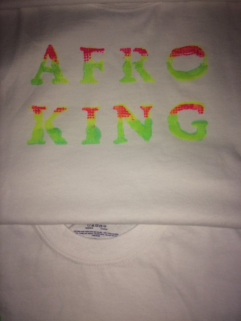 Image of Afro King T shirt
