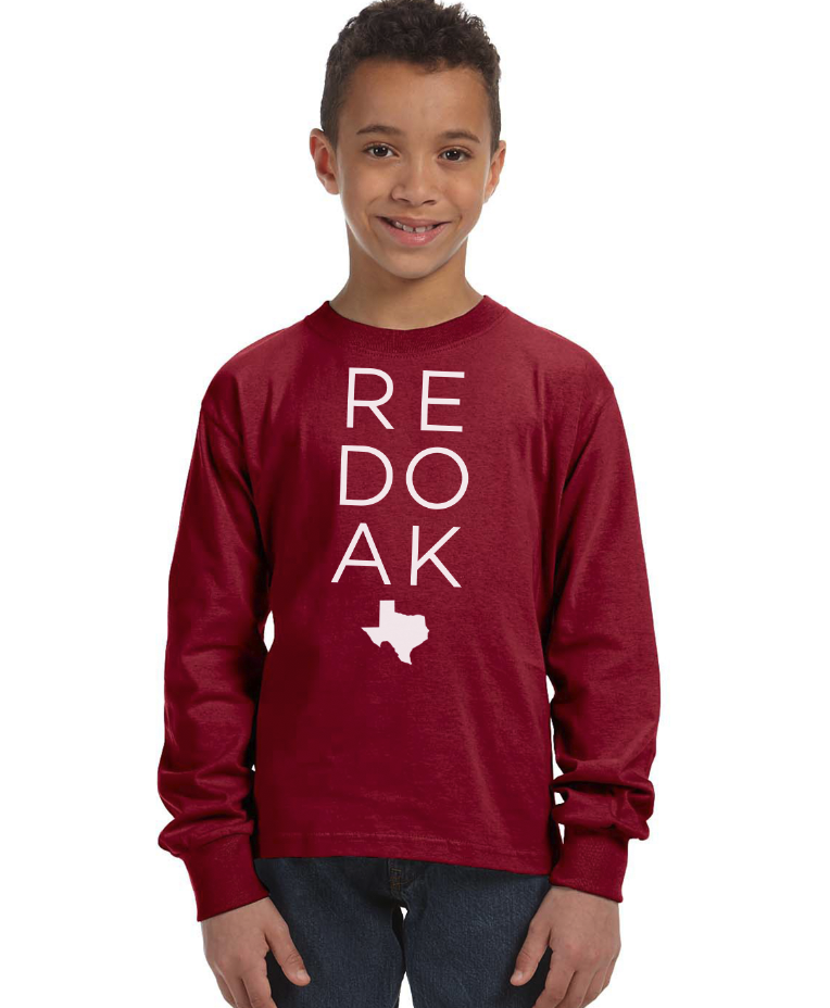 Image of PRE-ORDER - YOUTH - RED OAK SHIRT - LONG SLEEVE