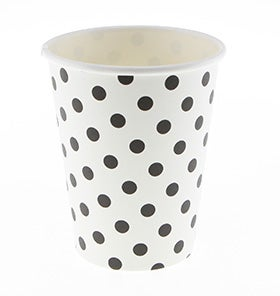 Image of Polkadot Black on White Cups