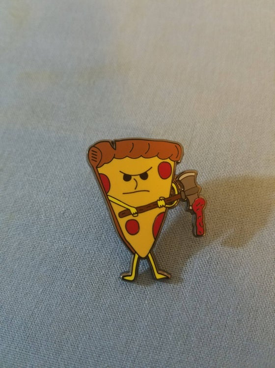 Image of Pizza Axe Enamel Pin