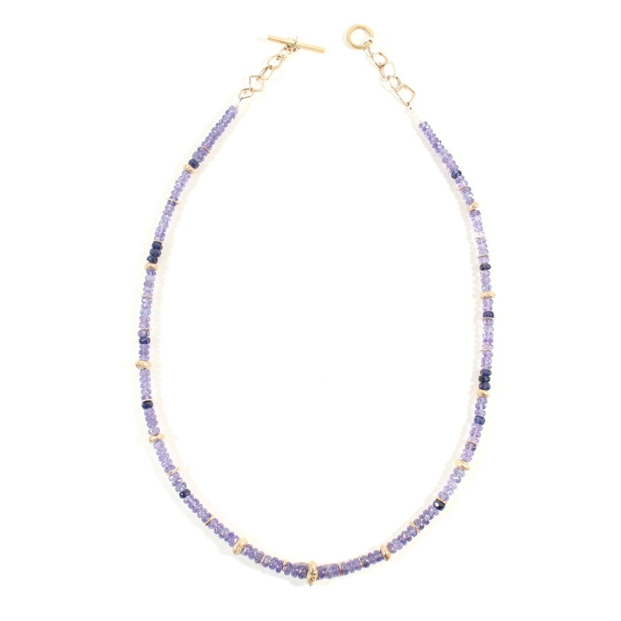 Image of Indian Summer Beaded Necklace Tanzanite
